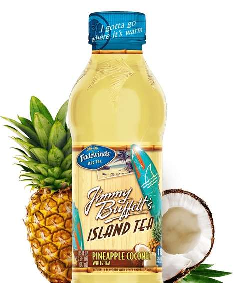 Tropical Iced Teas - Tradewinds Jimmy Buffett's Island Tea Features Natural Flavors & Sweeteners
