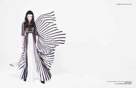 Feminine Goth Editorials - Design Scene's Latest Story Boasts Edgy Fashion Staples