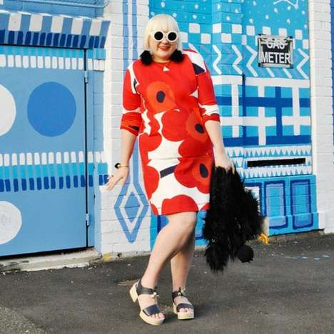 Whimsical Plus-Sized Fashion - Blogger Hayley Hughes' Instagram Account Features Fearless Styles