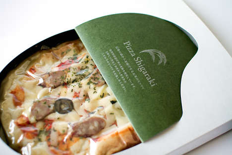 Rice Pizza Packaging - This Single-Serving Flatbread is Wrapped with Reference to Its Ingredients