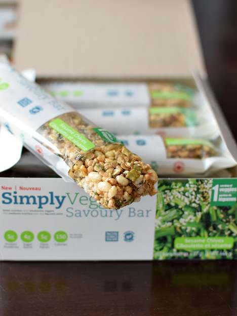 Savory Veggie Bars - SimplyVeggie Savory Protein Snacks Are a Healthy Alternative to Sweet Bars