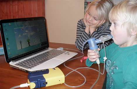 Cystic Fibrosis Breathing Games - The Jordi-Stick Gamifies a Nebulizer Breathing Device for Kids