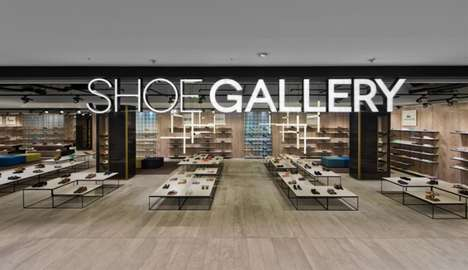 Gallery-Inspired Boutiques - The Shoe Gallery in Lithuania is Laid Out Like an Art Show