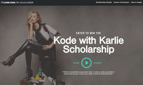 Model-Funded Tech Scholarships - Kode with Karlie is a New Tech Scholarship for Girls