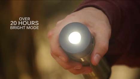 Nighttime Drinking Accessories - VSSL's Flask Light is a Flask and a Flashlight in One