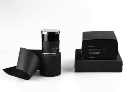 Night-Inspired Aromatherapy - The Packaging for Nocturna Candle is Dark and Mysterious