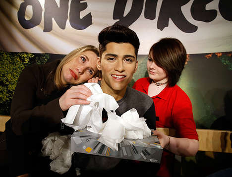 Opportune Tissue Stunts - Kleenex and Madame Tussaud's Help Fans Cope with Zayn One Direction News