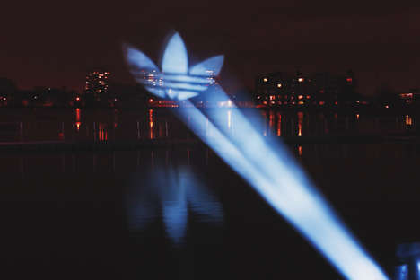 Branded Light Installations - The Adidas Supercolor Light Show Took Place Off Hackney Reservoir