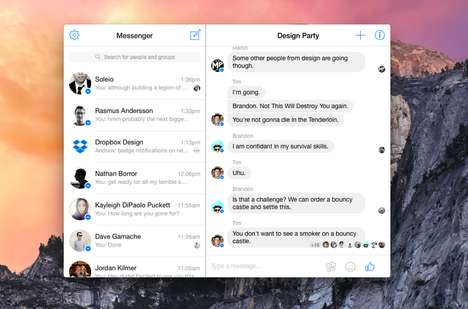 Standalone Messaging Apps - The Messenger for Mac App Lets OS X Users Facebook Chat Separately