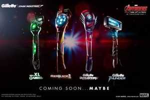Gillette Introduces Avengers Razors Online & Offline Simultaneously