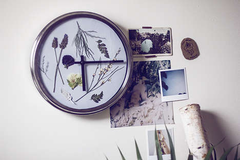 DIY Floral Wall Clocks - This Pressed Flower Clock Project Updates a Regular Analog Time-Keeper