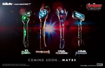 Cinematic Super Hero Razors - Gillette Creates Themed Razors Based on Avengers Age of Ultron Movie