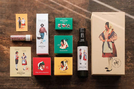 Rustic Condiment Packaging - O Melhor do Ribatejo's Branding Celebrates Portuguese Traditions