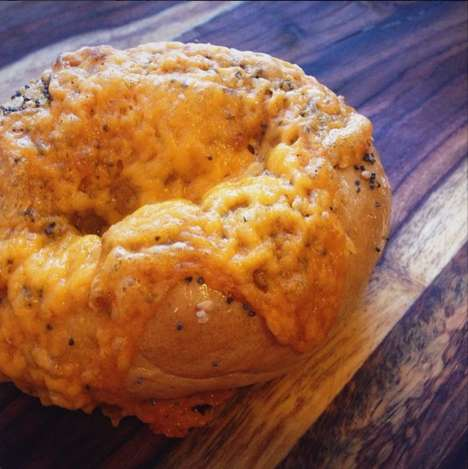 Spicy Beer Cheese Bagels - This Cheddar Bagel is at Coachella's Yeastie Boys Bagels Food Truck