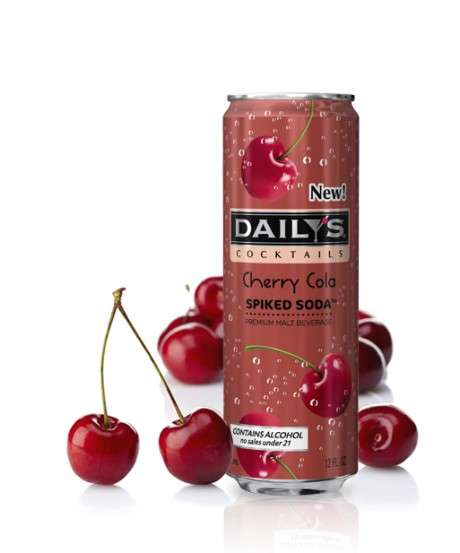 Spiked Fruity Sodas - Daily's Newest Beverage Line Combines Fruit Flavors, Alcohol and Soda