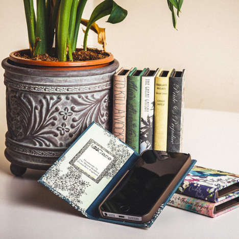 Novel Device Covers - This Handmade E-Reader Case Collection Resembles Hardbound Book Covers