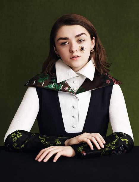 Captivating Child Star Photography - Game of Thrones' Maisie Williams Covers Dazed's Latest Issue
