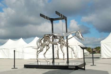 Mechanical Horse Sculptures - This Animated Life-Size Mechanical Horse Was Made By Adrian Landon