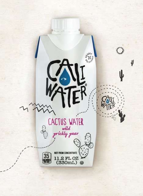 Prickly Pear Water - Caliwater's 100% Cactus Water Provides Refreshment with a Desert Fruit