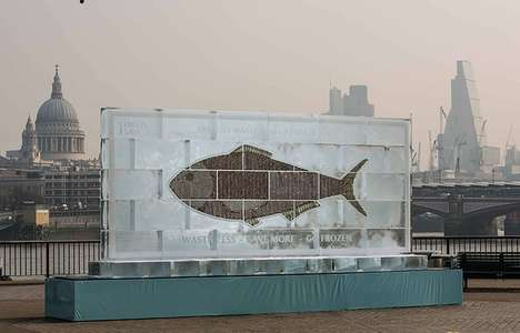 Ice Block Billboards - Birds Eye's Frozen Billboard Urges Freezer Use to Reduce Food Waste