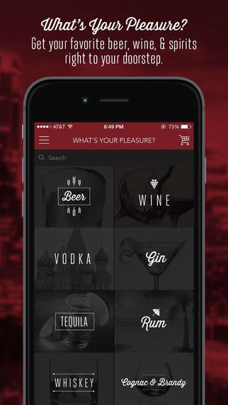 Alcohol-Ordering Apps - TopShelf Helps Consumers Place Beer, Wine and Spirit Orders for Delivery