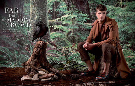 Elegant Outdoorsman Editorials - Book Moda's Latest Exclusive Highlights Rustic Camp Fashions