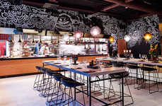 Graffiti-Covered Interiors - This Chic Hotel Restaurant Features a Doodle-Covered Interior
