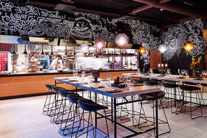 This Chic Hotel Restaurant Features a Doodle-Covered Interior