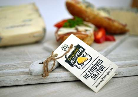 Graphical Rural Packaging - This Cheese Branding Reflects the Product's Freshness and Quality