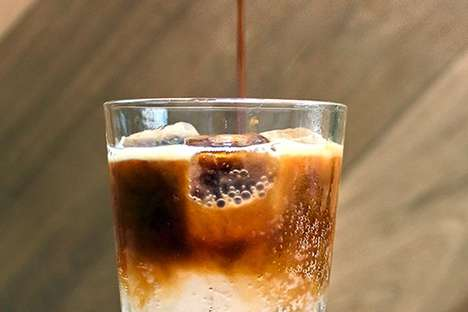 Effervescent Cold Coffees - This Refreshing and Complex Iced Espresso is Mixed with Tonic Water