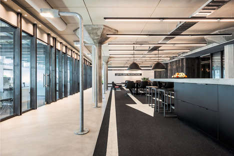 Concert-Ready Workplaces - This Stylish Music Production Office Features a Leather DJ Booth