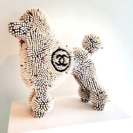 Designer Dog Sculptures - Herb Williams Creates Branded Art Work Inspired by Luxury Fashion Labels