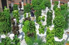 Vertical Aeroponic Gardens - LA Urban Farms' Tower Gardens Save Water, Space and Time