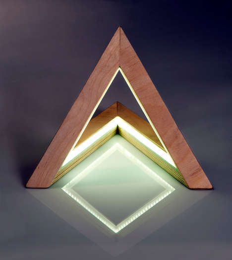Prismatic Triangle Lamps - Etsy's UshkiStudio Shop Boasts Modern Lighting Solutions