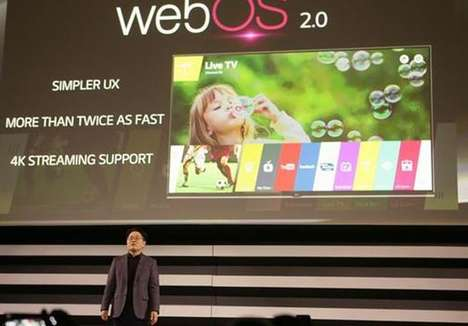 Interconnected TV Platforms - LG's WebOS 2.0 Connects TVs With Home Automation Gadgets & Smart Cars