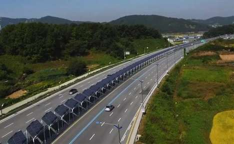 Secure Solar Bikeways - This South Korean Highway Bike Route is Lined with Solar Panels