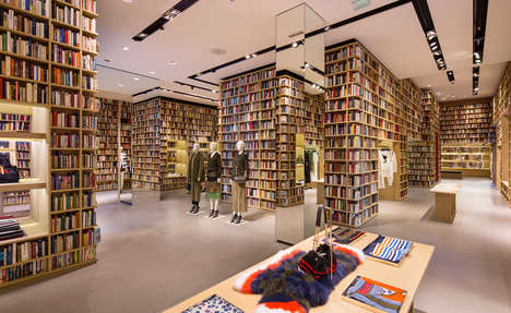 Literary Retail Takeovers - The Sonia Rykiel Flagship in Paris Has Been Transformed into a Library