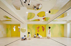 Ultramodern Elementary Classrooms - The LHM Kindergarten Project in Tokyo is Vibrant and Playful