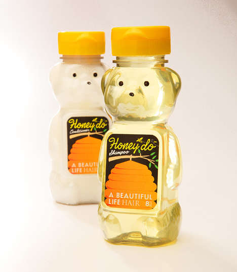 Gentle Honey-Based Haircare - The Honey'do Shampoo & Conditioner Gently Treats and Cleans Hair