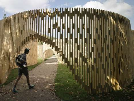 Nordic Timber Pavilions - This Mesmerizing Rosenborg Castle Installation