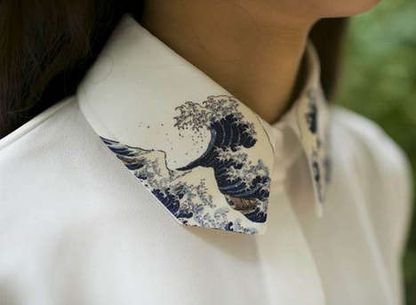 Fine Art Collars - This Sleeveless Top Boasts Hokusai's The Great Wave of Kanagawa