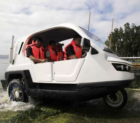 Amphibious Three-Wheelers - The Salamander is Designed To Give Mobility to Flood-Stricken People