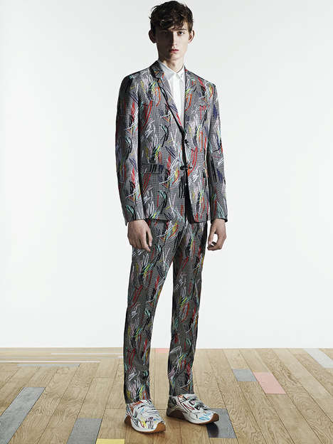 Scribbled Print Catalogs - The Latest Dior Homme Print Resembles an Abstract Art Piece