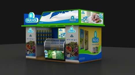 Experiential Retail Booths - This Dairy Retail Booth Design is an Escape Within the Grocery Aisle