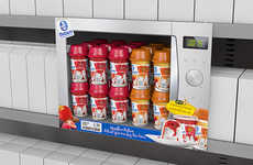 Appliance-Inspired Merchandising - This Yogurt Shelf Display is Made to Resemble a Microwave
