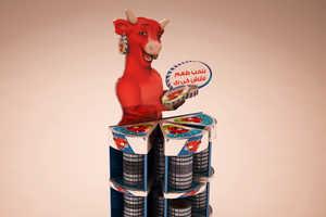 These La Vache Qui Rit Displays Accentuate the Brand Mascot's Femininity