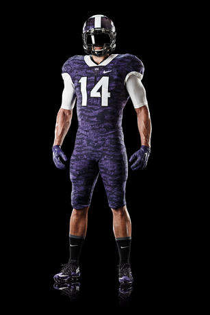 Advanced Football Uniforms - The Texas Christian University Football Uniform Was Designed By Nike