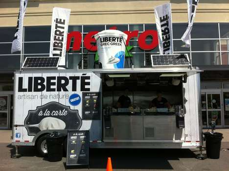 Yogurt Food Trucks - Liberte Creates a Fun Out-of-Store Experience That's Great for Summer