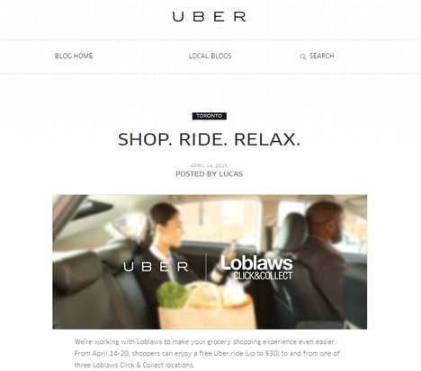 Grocery Shopping Chauffeurs - Uber and Loblaws Have Teamed Up to Offer Free Grocery Pickups