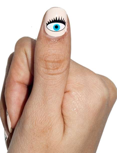 Seeing Eye Nail Stickers - Pixie Market's Stick-On Manicure is Easy to Apply and Remove